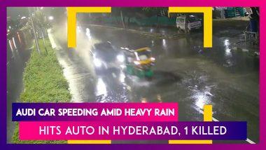 Hyderabad: Horrifying Hit-And-Run Between Audi Car And Autorickshaw Caught On CCTV