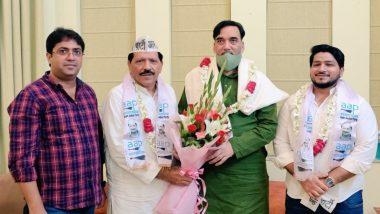 Delhi Pradesh Congress Committee Secretary Haji Meherban Qureshi Joins AAP in Presence of Party State Convenor Gopal Rai