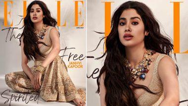 Janhvi Kapoor Looks Like A Princess In Beige Lehenga Choli On The Cover Of Elle (View Pic)