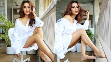 Jasmin Bhasin Amps Up the Summer Fashion Game as She Slips Into an Over-Sized White Shirt in the Latest PHOTOS