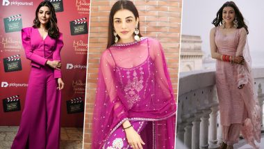 Kajal Aggarwal Birthday Special: 5 Beautiful Pink Outfits Worn by the Actress