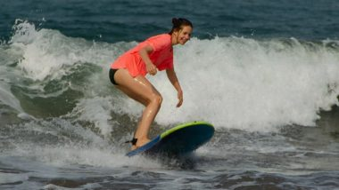 Kalki Koechlin Shares a Throwback Picture of Her Surfing On Goan Beaches, Hrithik Roshan Drop a Comment on Her Post (View Pic)