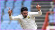 Keshav Maharaj Hat-Trick Video: Watch South African Spinner Achieve Historic Feat Against West Indies