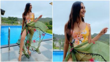 Krystle D'Souza Sends Temperatures Soaring in a Summery Yellow Monokini With an Organza Sarong (View Pic)