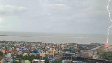 Mumbai Rain: Lightning Strikes an Old Boat on the Beach in Khar; See Breathtaking PIC