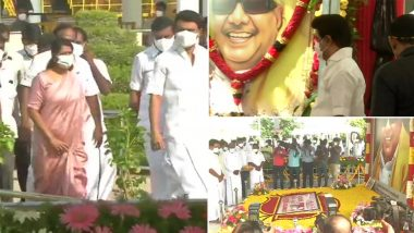 M Karunanidhi 98th Birth Anniversary:MK Stalin Pays Floral Tribute to Late DMK Chief & Former Tamil Nadu CM (View Pics)
