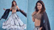 Madhuri Dixit Twirls in a Rs 54K Tie-Dye Lehenga-Choli Set, Takes Her Ethnic Fashion Game to Next Level (View Pics)
