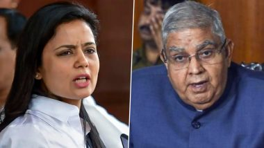 West Bengal: TMC MP Mahua Moitra Dares Governor to Sue Her, Jagdeep Dhankar Denies Charges of 'Extensive Nepotism'