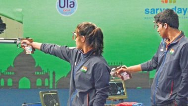 Manu Bhaker and Saurabh Chaudhary at Tokyo Olympics 2020, Shooting Live Streaming Online: Know TV Channel & Telecast Details of 10m Air Pistol Mixed Team Qualification Stage 1