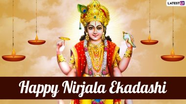 Happy Nirjala Ekadashi 2021 Greetings & HD Images: WhatsApp Messages, Lord Vishnu Wallpapers, SMS, Wishes and Quotes to Celebrate Hindu Festival
