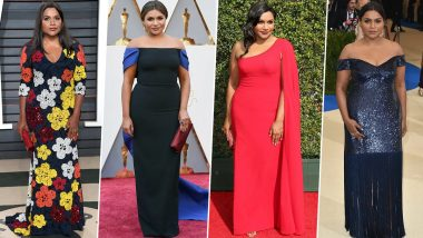 Mindy Kaling Birthday Special: From Florals to Bodycons – 10 Red Carpet Looks of 'The Office' Star That Are Totally Swoon-Worthy (View Pics)