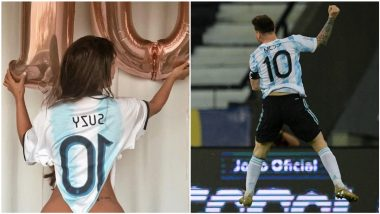'Miss BumBum' Suzy Cortez, Lionel Messi's Crazy Fan Praises Argentinian Football Star For The Stunning Free-Kick Against Chile, Calls Him 'The Best in History'