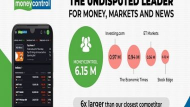 Business News | Moneycontrol App's Monthly Active Users Six Times Larger Than Its Closest Competitor for May 2021 - Similarweb