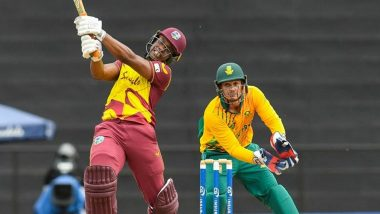 West Indies vs South Africa 3rd T20I Live Streaming Online in India: Watch Free Telecast of WI vs SA T20I Match on TV
