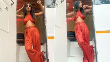 Red Hot Alert! Nia Sharma Amps Up the Fashion Game in a Solid-Hued Stylish Ensemble, Says 'Miss Playing Dress Up!'