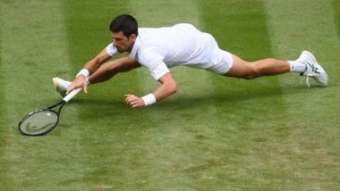 Novak Djokovic Displays Ninja Like Reflexes in Wimbledon 2021 Semi-Final Against Denis Shapovalov (Watch Video)