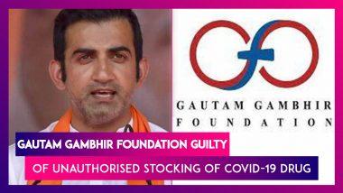 Gautam Gambhir Foundation Guilty Of Unauthorised Stocking Of Fabiflu Drug For Covid-19 Patients