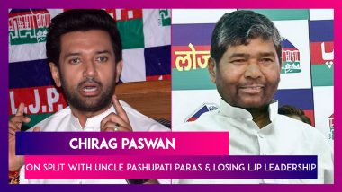 Chirag Paswan Speaks About Split With Uncle Pashupati Paras And Losing LJP Leadership