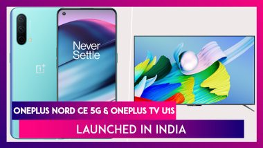 OnePlus Nord CE 5G & OnePlus TV U1S Launched in India