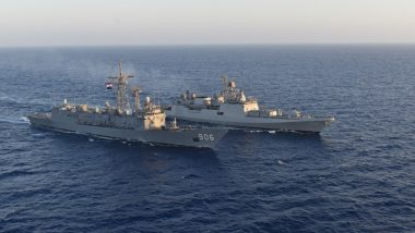 INS Tabar, Indian Navy's Frontline Frigate, Arrives at Alexandria in Egypt as Part of Goodwill Visit