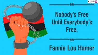 Juneteenth 2021 Quotes and Images: WhatsApp Stickers, Messages, Status, GIF Greetings, Wallpapers and SMS to Celebrate Emancipation Day
