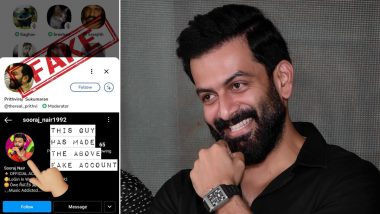 Prithviraj Sukumaran Boosts the Imposter's Morale in Latest Post After Exposing His Fake ID on Clubhouse