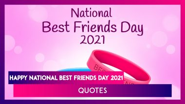 Happy National Best Friends Day 2021: Heart-Warming Quotes About Best Friends and Friendship