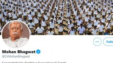 Twitter Restores Verified Blue Tick of Mohan Bhagwat and Other Key RSS Functionaries