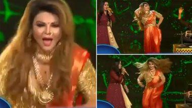 Indian Idol 12: Rakhi Sawant Shows Off Her Energetic Thumkas As She Dances to Vidya Balan's Song Mala Jau De (Watch Video)