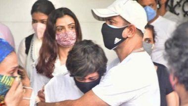 Raj Kaushal Funeral: Mandira Bedi Breaks Down As Ronit Roy Consoles Her In These Images