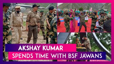 Akshay Kumar Spends Time With BSF Jawans, Plays Volleyball, Dances With The Soldiers In Kashmir