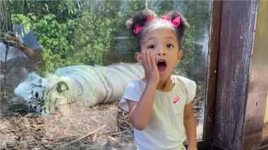 Serena Williams' Daughter Alexis Olympia Ohanian Jr. Awestruck Seeing a White Tiger (View Photo)