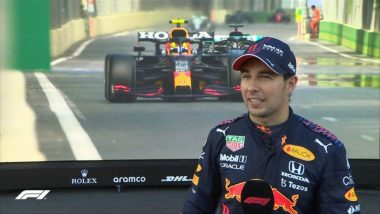 Sergio Perez Wins Azerbaijan Grand Prix 2021 in Two-Lap Shootout After Max Verstappen Crashes from Lead