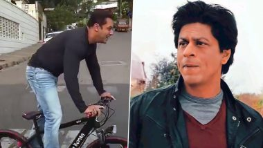 World Bicycle Day: Salman Khan Yells 'Shah Rukh Khan' Outside Mannat While Riding His Bicycle In This Throwback Video