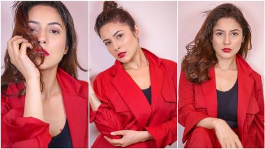 Shehnaaz Gill Casts a Magic Spell With Her Fiery Red Hot Look, View Pics of Gorgeous Punjabi Actress
