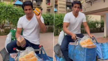 Sonu Sood Shares a Video of Himself Selling Bread and Eggs, Urges All To Support Small Businesses!
