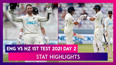 ENG vs NZ 1st Test 2021 Day 2 Stat Highlights: Devon Conway Shines With Double Century On Debut