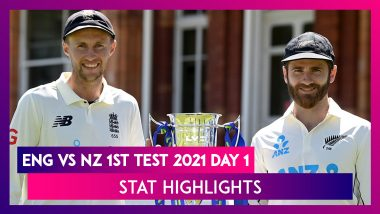 ENG vs NZ 1st Test 2021 Day 1 Stat Highlights: Devon Conway's Century Keeps Visitors In Control