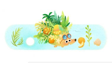 Summer Season 2021 Google Doodle: Celebrate Longest Day of the Year or Summer Solstice Seeing This Cute Hedgehog Flaunting Sunglasses!