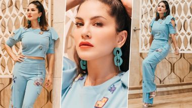 Sunny Leone Is Sexy and Sassy in This Stunning New Blue Outfit (See Pics)