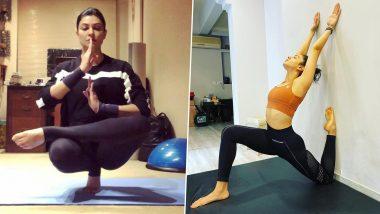 International Day of Yoga 2021: From Sushmita Sen to Rakul Preet Singh, Bollywood Divas Who Ace Tough Yoga Poses Like a Boss
