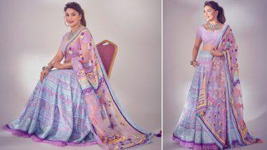 Yo or Hell No? Madhuri Dixit's Lavender Lehenga Choli by Sukriti & Aakriti