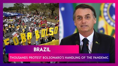 Brazil: Thousands On The Streets To Protest Jair Bolsonaro's Handling Of The Pandemic