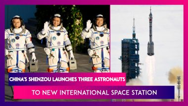 China's Shenzou Launches Three Astronauts To New International Space Station