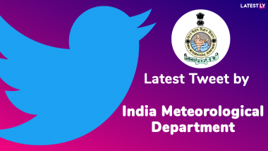Light to Moderate Intensity Rain Would Occur over and Adjoining Areas of Sahaswan, ... - Latest Tweet by India Meteorological Department