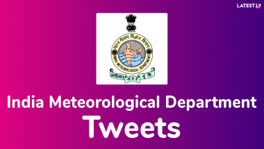 Thunderstorm with Light to Moderate Intensity Rain Would Occur over and Adjoining Areas of ... - Latest Tweet by India Meteorological Department