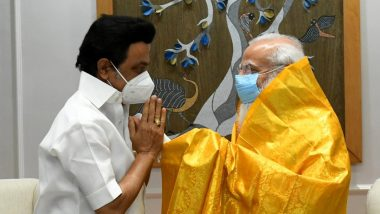 Tamil Nadu CM MK Stalin Meets PM Narendra Modi, Seeks More COVID-19 Vaccine Doses for State