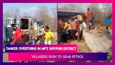 Tanker Overturns, Two Injured But Villagers Rush To Grab Petrol In MP's Shivpuri District
