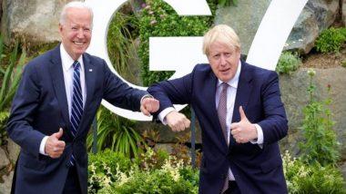 Joe Biden Gifts Custom-Made Bicycle to UK Prime Minister Boris Johnson at G7 Summit