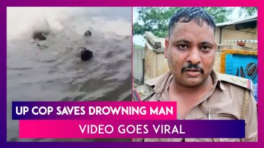 Aligarh: Police Sub-Inspector Saves Drowning Man; Video Goes Viral